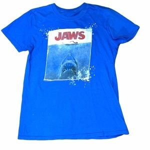 Jaws double sided graphic print T-shirt small